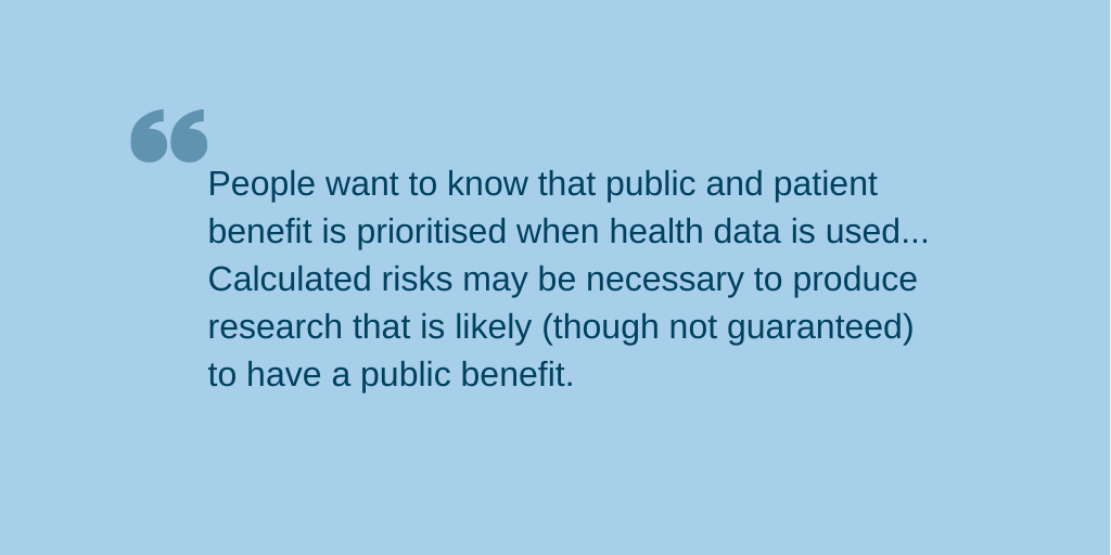 Quote about importance of public benefit