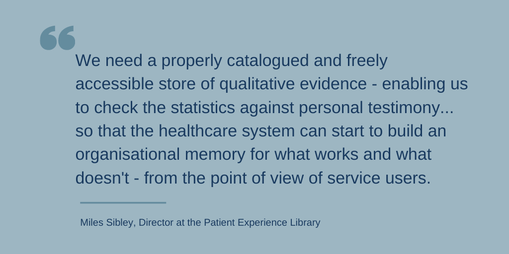 Quote from blog post arguing we need a better catalogue of qualitative data